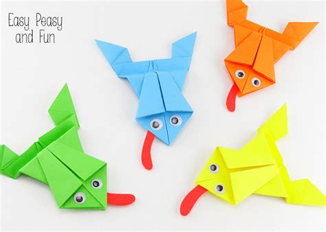 Simple Origami For Beginners - origami frogs tutorial origami for origami