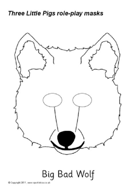 big bad wolf template search results for wolf mask template simple calendar 2015