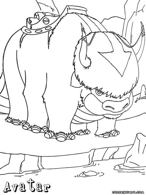 avatar last airbender coloring pages coloring pages to