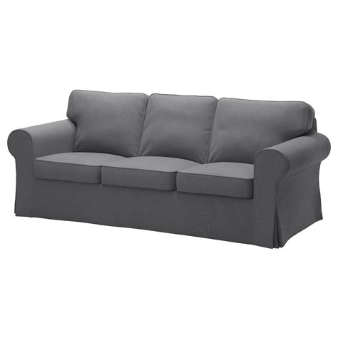 ikea ektorp sofa cushions ektorp three seat sofa nordvalla dark grey ikea