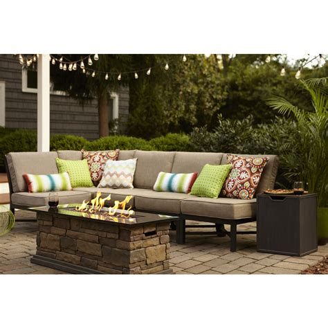 shop garden treasures palm city 5 piece black steel patio