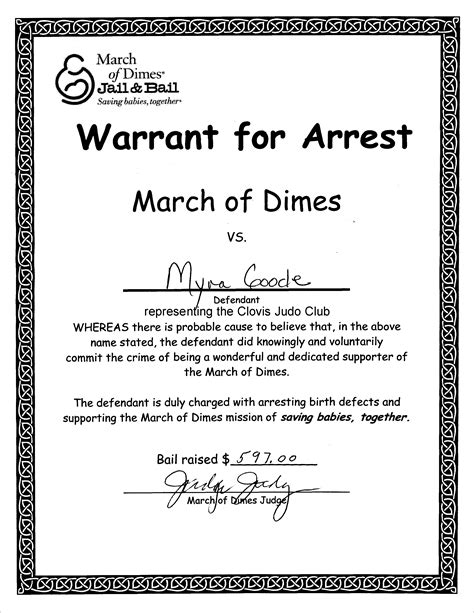 bench warrant procedures sle arrest warrant affidavit dui pictures