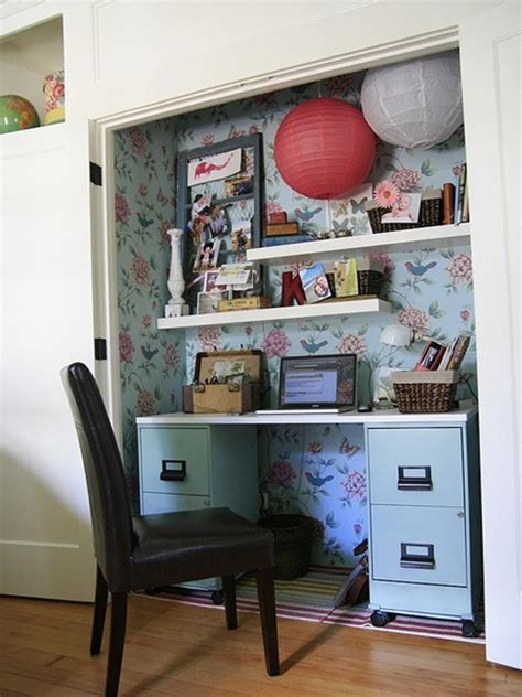 closet desk ideas cool and stylish office desk in closet decoration