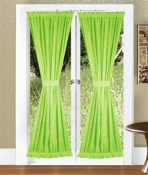 green door curtain lime green french door curtains