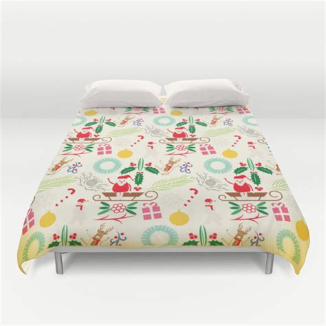 Christmas Pattern Duvet Cover | items similar to christmas duvet cover pattern bedding