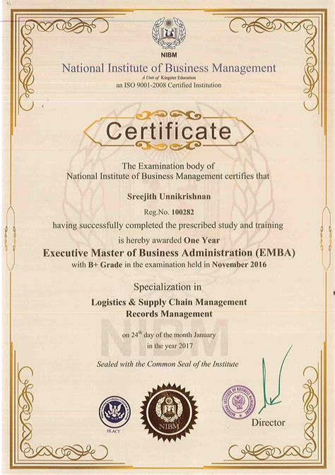 Executive Mba Correspondence by Executive Mba In Supply Chain Management Distance Learning