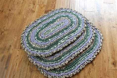 matching rug matching rag rugs 3 green and purple 20 5 x 32