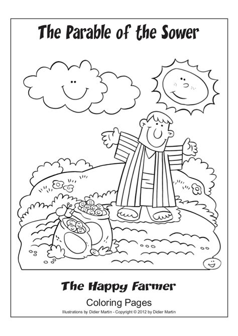 free coloring pages of parable of the sower