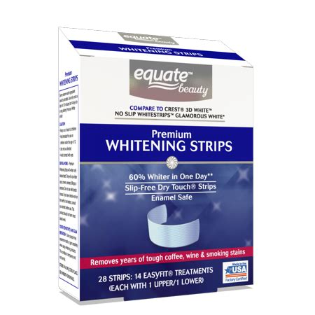 7 Day Teeth Whitening Detox by Equate Premium Teeth Whitening Strips 14 Day Treatment