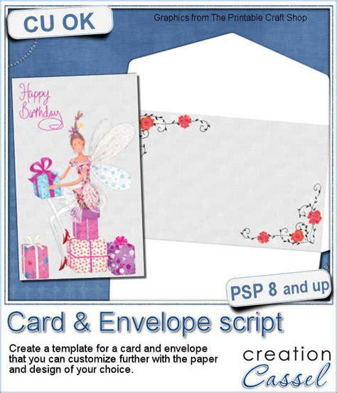 psp pro card templates card envelope psp script card envelope psp script