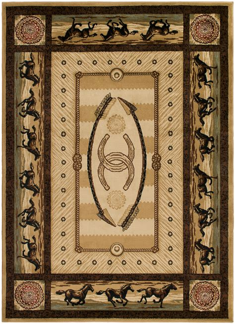 western themed rugs mr ad3843 5x8 cheyenne western area rug 5 3 x 7 3