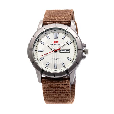Jam Pria Swiss Army Sa1605 Day Date Canvas Limited jual swiss army sa7446 kanvas jam tangan pria