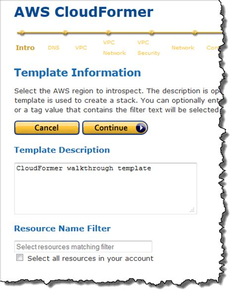 using cloudformer to create aws cloudformation templates