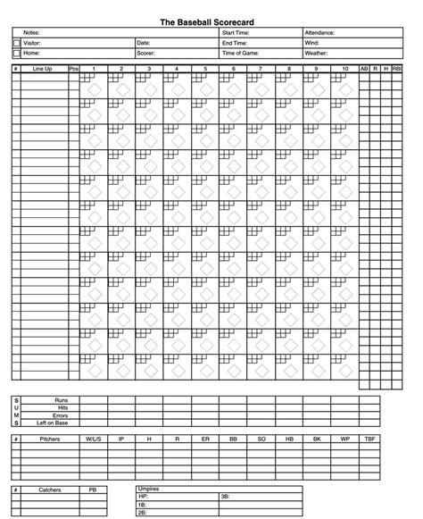2017 Baseball Printable Sheet