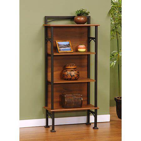 sauder antiqua 4 shelf bookcase black and maple finish