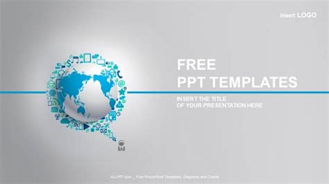World Globe With App Icon Business Ppt Templates Free Powerpoint Template Business