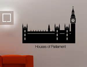 Ebay Wall Stickers Quotes houses of parliament big ben wall art sticker decal lounge