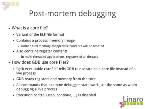 post mortem review template q2 12 debugging with gdb