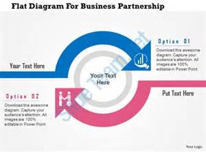flat diagram for business partnership flat powerpoint
