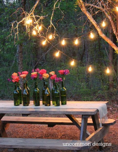 backyard lighting ideas for a party easy outdoor party lighting ideas