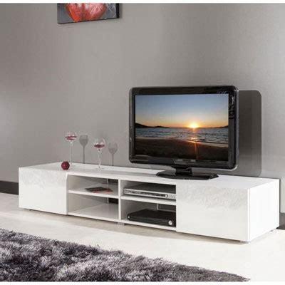mueble de tv de  cm en color blanco brillo