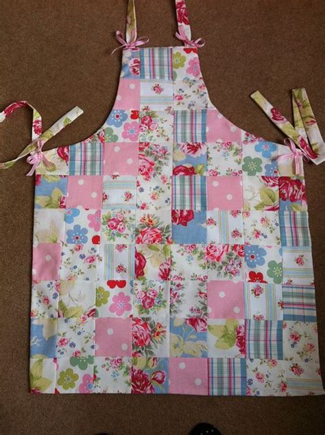 Patchwork Apron - patchwork apron made with cath kidston fabrics by