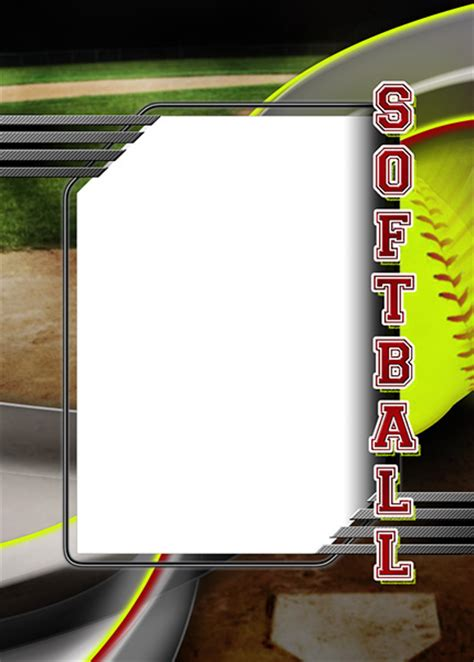 free sport card back side template softball photo templates