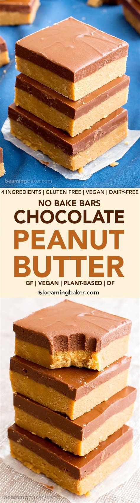no bake peanut butter bars with chocolate on top healthy peanut butter bars no bake