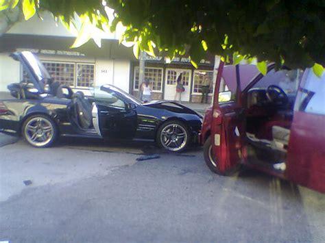 Paparazzo Hits Lindsay Lohans Car by Car Crash Lindsay Lohan Car Crash 2005
