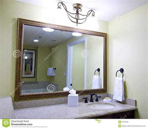 bathroom sink and mirror large mirror above sink stock photography image 6431592