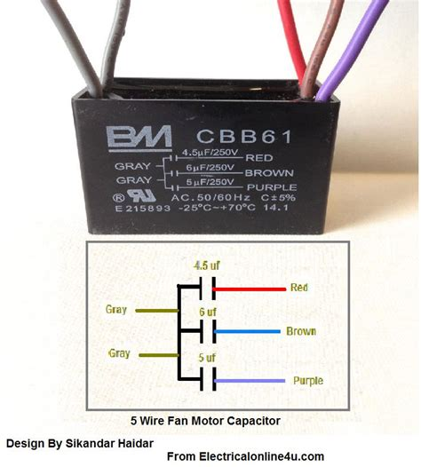 cbb61 capacitor 4 wire diagram fan capacitor