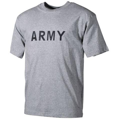 mens combat t shirt patrol top cadet with army print grey s ebay