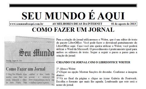 layout de jornal online como fazer um jornal seu mundo 233 aqui