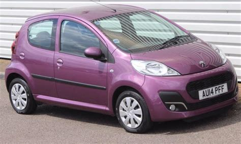 peugeot purple peugeot 107 1 0 active petrol manual 5 door purple 2014