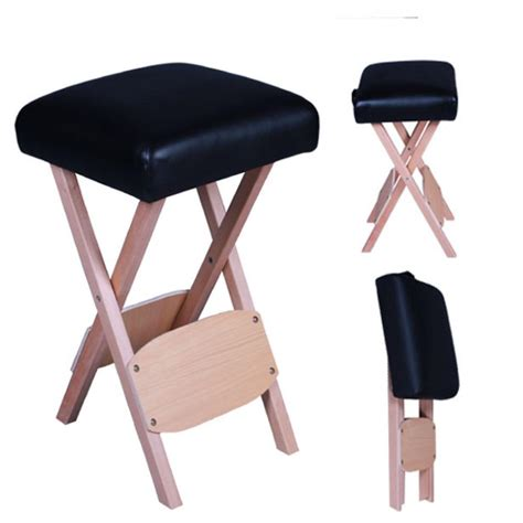 tattoo stool folding wooden portable table stool salon chair