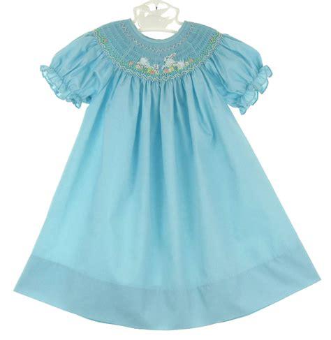 rosalina dress rosalina robins egg blue bishop smocked dress with bunny