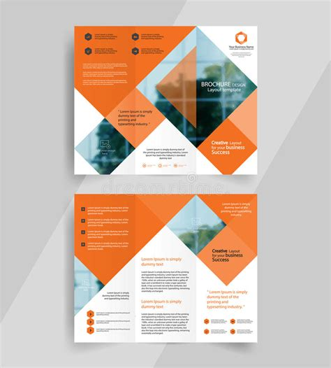 tri fold brochure design layout download business tri fold brochure layout design emplate stock
