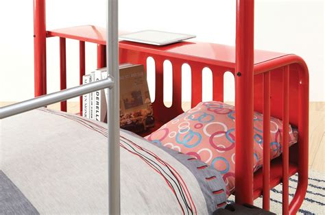 jeep bunk bed explorer jeep design red metal twin over twin bunk bed