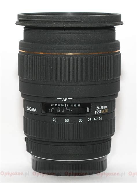 Sigma 70mm F 2 8 Ex Dg Af Macro sigma 24 70 mm f 2 8 ex dg macro optyczne pl