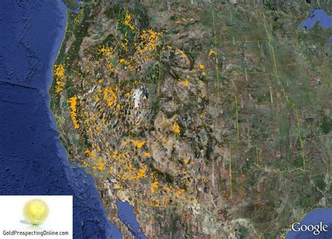 gold prospecting in texas map united states gold prospecting equipment tips gold maps