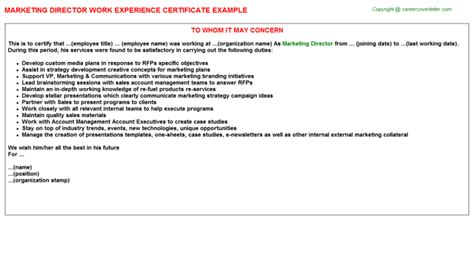 Work Experience Letter Radiography marketing director radiology work experience letters