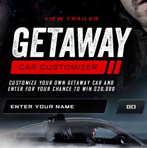 Cash Giveaway Today - win 20 000 cash giveaway getaway car customizer warner bros sweepstakes sweeps maniac