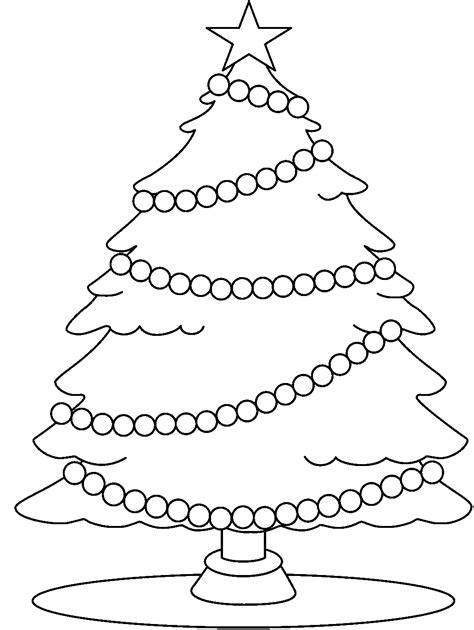 best christmas tree clipart black and white 14634