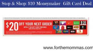 Stop Shop Gift Card - stop shop 20 moneymaker gift card deal thru 11 17 ftm