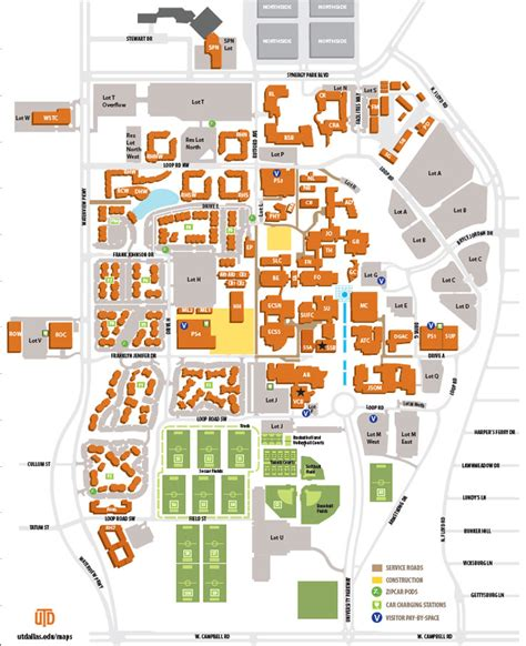 university of texas at dallas cus map printable cus map
