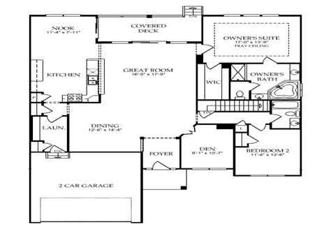 floor plan one story single story open floor plans single story open floor