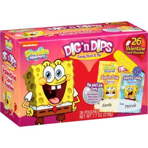 valentines day walmart spongebob squarepants dig n dips card pouches