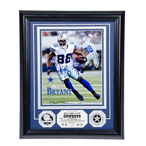 Dallas Cowboys Home Decor by Nfl Dallas Cowboys 88 Dez Bryant Autograph Silver Coin
