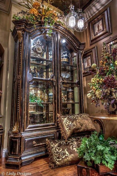 curio cabinet christmas decorating ideas 35 best tuscan flower arrangements images on