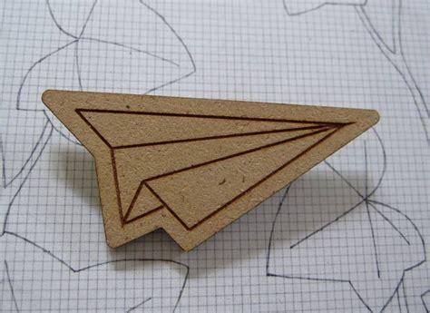Plane Brooch paper plane brooch felt